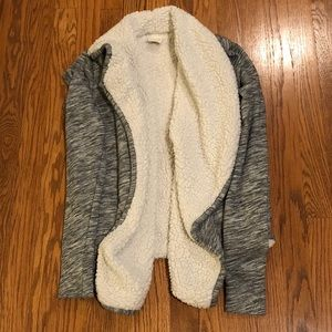 Abercrombie & Fitch Sherpa Lined Open Cardigan
